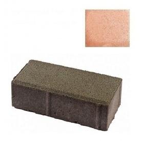 Тротуарна плитка ЮНІГРАН Цеглинка 200х100х60 мм бурштин на білому цементі