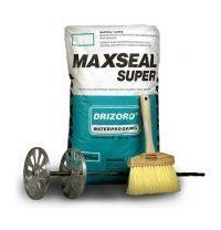 Проникающая гидроизоляция Drizoro MAXSEAL SUPER 25 кг белая