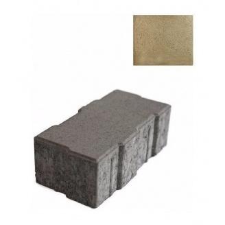 Тротуарная плитка ЮНИГРАН Джокер 248х124х80 мм оливка на сером цементе