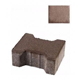 Тротуарна плитка ЮНІГРАН Двотавр 200х165х100 мм каштан на сірому цементі