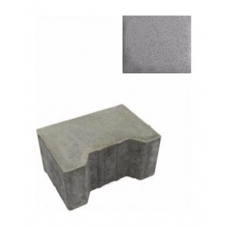 Тротуарна плитка ЮНІГРАН Двотавр П 200х140х100 мм сірий класік