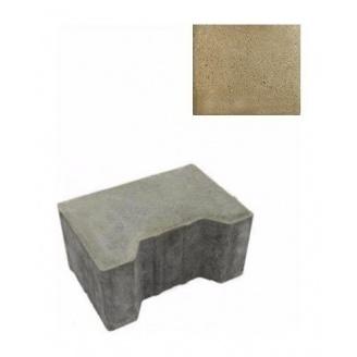 Тротуарна плитка ЮНІГРАН Двотавр П 200х140х100 мм оливка на сірому цементі