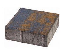 Тротуарна плитка ЮНІГРАН Квадрат 200х200х60 мм колормикс на білому цементі