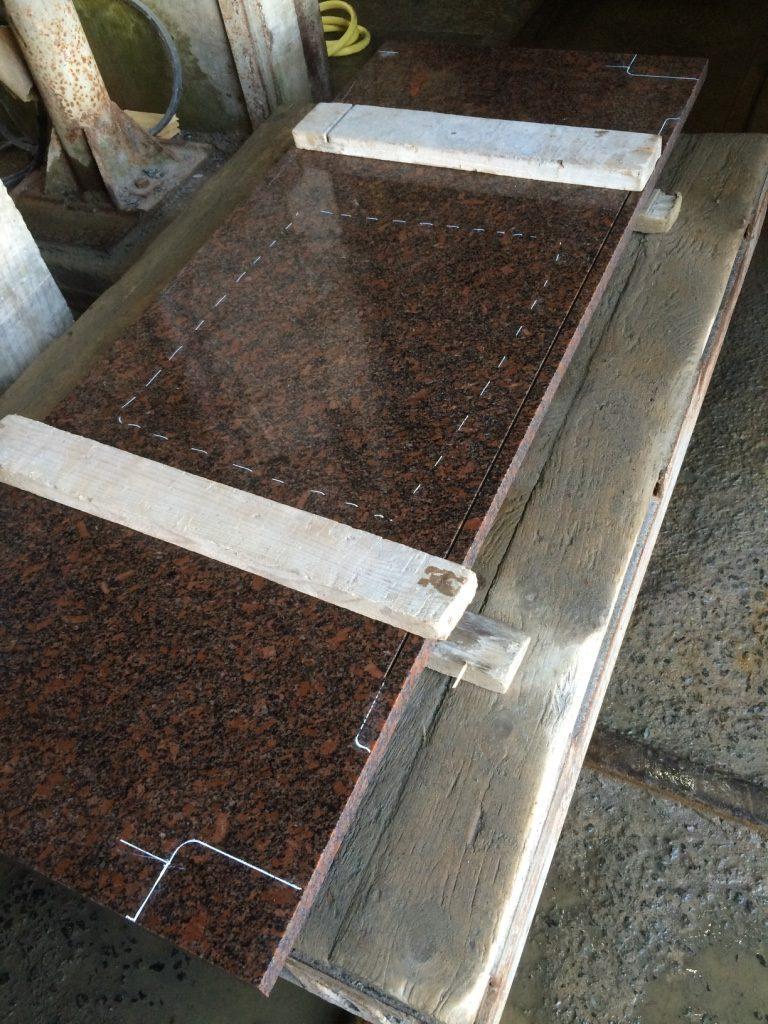 Раскрой каменной столешницы по индивидуальным лекалам