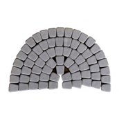 Тротуарная плитка ЮНИГРАН Гамма 60 мм серый стандарт