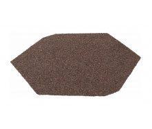 Заглушка конька треугольного QueenTile большая 305х300 мм brown