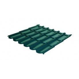 Металлочерепица RAUNI Standart 1180/1100 мм 0,45 мм MAT Polyester SeAH Steel (Корея) RAL 6005