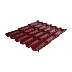Металлочерепица RAUNI Premium 1180/1100 мм 0,5 мм MAT Polyester SeAH Steel (Корея) RAL 3005