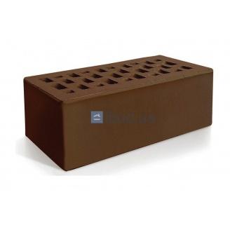 Кирпич лицевой Евротон утолщенный 250х120х88 мм коричневый