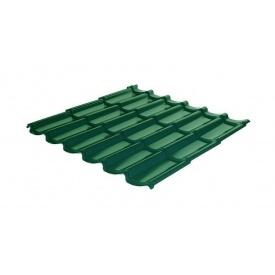 Металлочерепица RAUNI Standart 1180/1100 мм 0,45 мм Polyester SeAH Steel (Корея) RAL 6002
