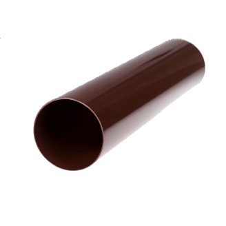 Труба металева 87 мм 3 м коричнева