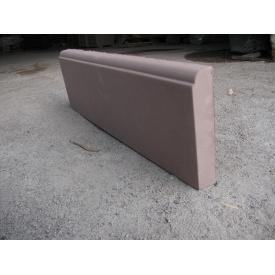 Бордюр тротуарный 600x185x40 мм коричневый