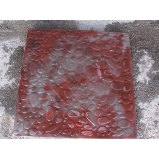 Тротуарна плитка Морська галька 400х400х35 мм похмурий камінь