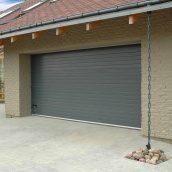 Ворота гаражные секционные Ryterna R40 stucco узкий гофр RAL 7016