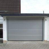 Ворота гаражные секционные Ryterna TLB slick доска RAL 9006