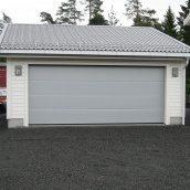 Ворота гаражные секционные Ryterna R40 slick доска RAL 9006