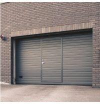 Ворота гаражные секционные Ryterna TLB stucco узкий гофр RAL 7016