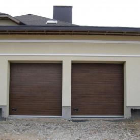 Ворота гаражные секционные Ryterna TLB woodgrain узкий гофр Old oak