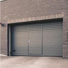 Ворота гаражні секційні Ryterna TLB stucco вузький гофр RAL 7016