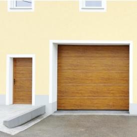 Ворота гаражні секційні Ryterna R40 woodgrain дошка Golden oak