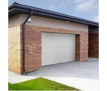 Ворота гаражные секционные Ryterna TLB woodgrain широкий гофр RAL 9016 белый
