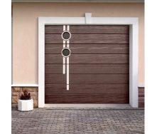 Ворота гаражные секционные Ryterna TLB woodgrain широкий гофр RAL 8017