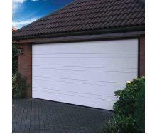 Ворота гаражные секционные Ryterna R40 slick верхняя полоса RAL 9016 белый