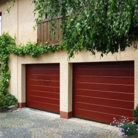 Ворота гаражные секционные Ryterna TLB slick широкий гофр RAL 3003