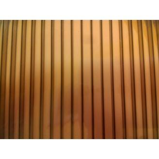 Полікарбонат стільниковий Greenhouse 8 мм 2,1х6 м коричневий
