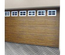 Ворота гаражные секционные Ryterna TLB woodgrain филенка Golden oak