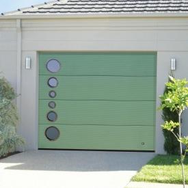 Ворота гаражные секционные Ryterna TLB slick микрополоса RAL 6021