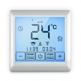 Цифровой терморегулятор с сенсорным управлением SE 200 90х90х41 мм белый