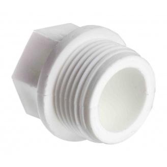 Заглушка EVCI PLASTIK PP-R наружная с резьбой 1