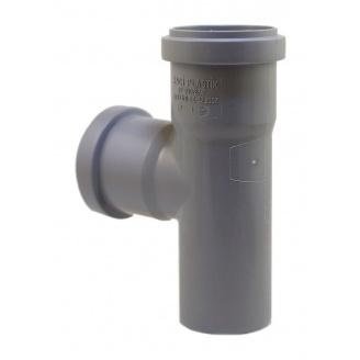 Тройник EVCI PLASTIK 50x50x50 мм 90 градусов серый