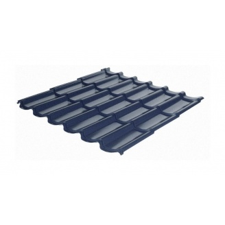 Металочерепиця RAUNI Standart 1180/1100 мм 0,45 мм MAT Polyester SeAH Steel (Корея) RAL 7024
