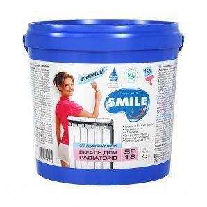 Эмаль акриловая SMILE SF-18 для радиаторов 2,3 кг белый