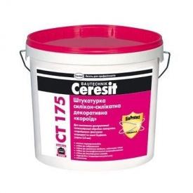 Штукатурка фасадная силикон-силикатная декоративная CТ 175 короед 2,0 мм 25 кг для отделки фасада
