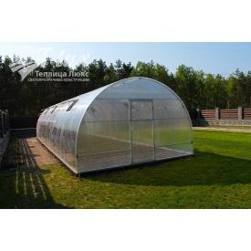 Теплица сборная НОРД из оцинкованной трубы с поликарбонатом Greenhouse 6 мм 4х6х2,5 м