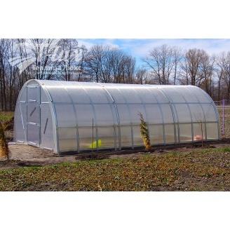 Теплиця збірна Веселка з оцинкованого профілю з полікарбонатом Greenhouse NANO 6 мм 4х6х2,5 м