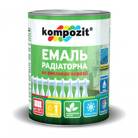 Эмаль акриловая радиаторная Kompozit матовая 0,75 л белый