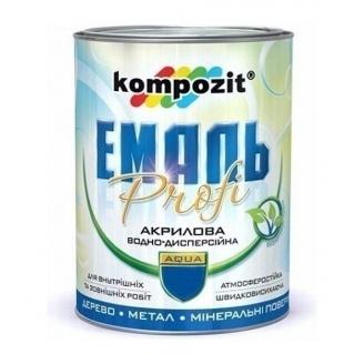 Эмаль акриловая Kompozit PROFI глянцевая 10 л серый