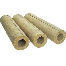 Цилиндр теплоизоляционный из базальтовой ваты 80 кг/м3 57х30х1000 мм