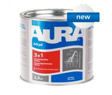 Грунт-эмаль Aura 3 в 1 А 0,8 кг серый
