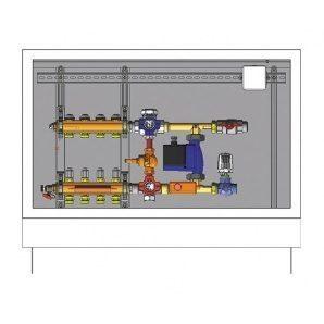 Шафа управління для систем підлогового опалення HERZ COMPACTFLOOR 230 В 3 відводи (3F53103)