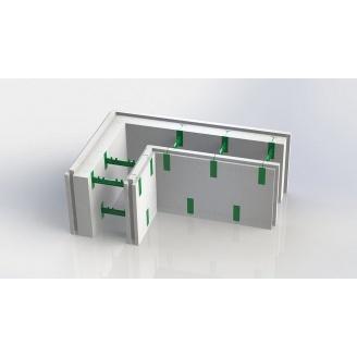 Термоблок кутовий 100+50 AVcom з регульованою шириною бетонного ядра стіни