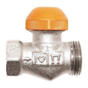 Термостатичний клапан HERZ TS-98-V прохідний без з'єднувача Rp 1/2xG 3/4 (1762371)