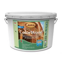 Декоративно-защитное средство Aura Wood ColorWood Aqua 9 л белый