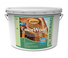 Декоративно-защитное средство Aura Wood ColorWood Aqua 2,5 л белый