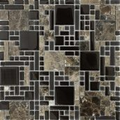 Мозаика из мрамора и стекла VIVACER RS76 300x300 мм