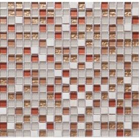 Мозаика из мрамора и стекла VIVACER DAF2 300x300 мм